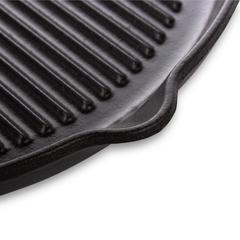 Сковорода гриль, 25,5х25,5х3 см, чугун с эмалированным покрытием, цвет черный, серия Noir mat, 327101, INVICTA, Франция