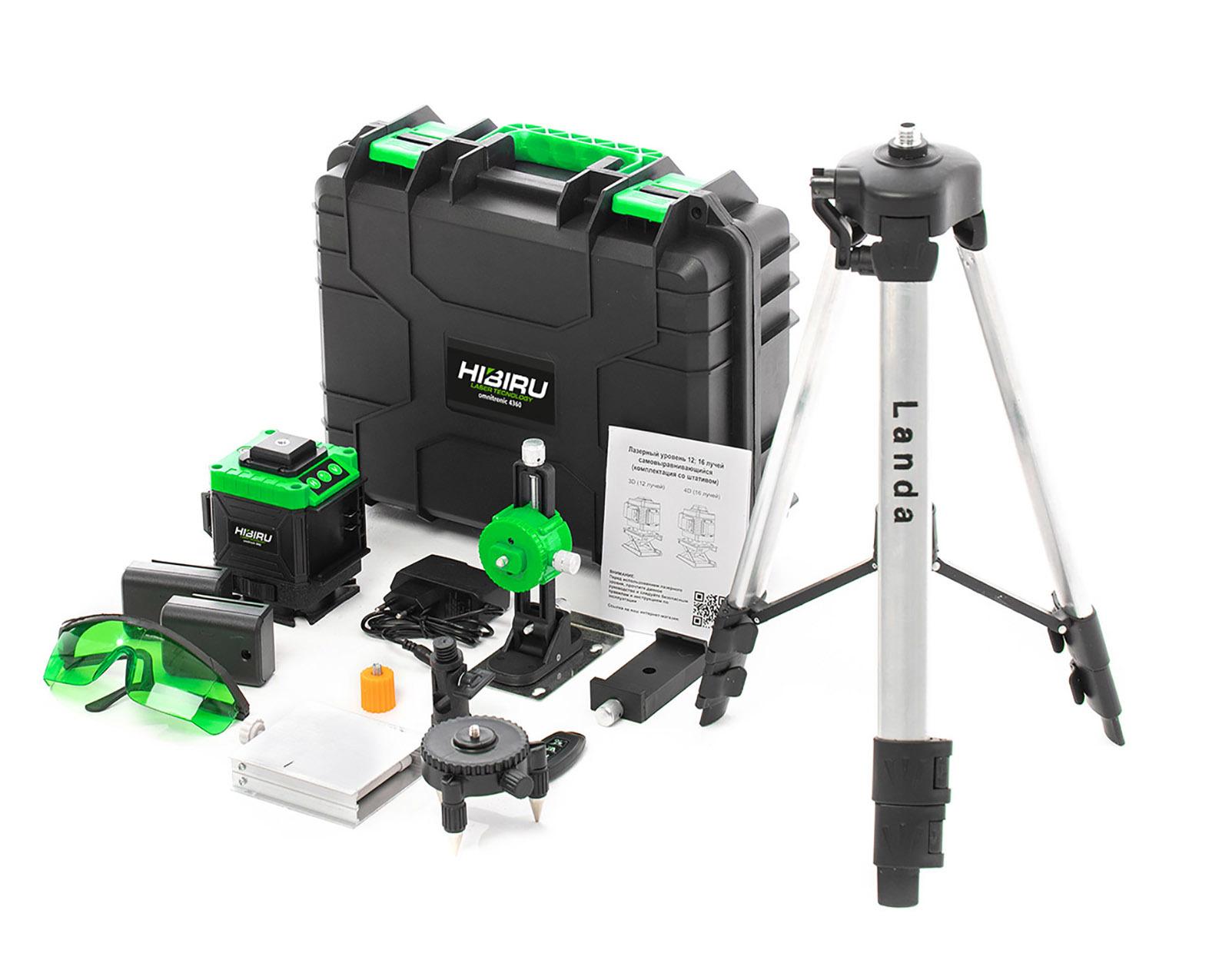 Лазерные уровни HIBIRU Лазерный уровень 3D HIBIRU Omnitronic 4360  зеленый луч(нижний горизонт) 22.jpg