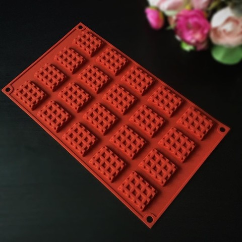 Силиконовая форма для шоколада Мини ВАФЛЯ 20в1 (40*30мм.)