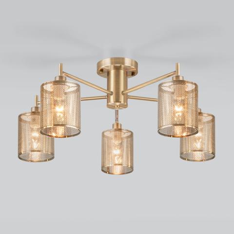 Люстра в стиле лофт с металлическими абажурами 70109/5 античная бронза