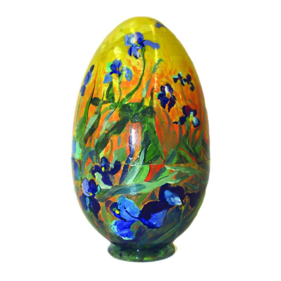 Яйцо-шкатулка пасхальное Ирисы Ван Гог