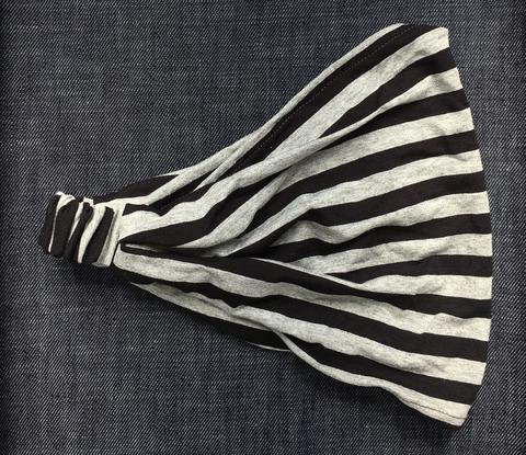 Повязка - косынка в полоску из вискозного трикотажа