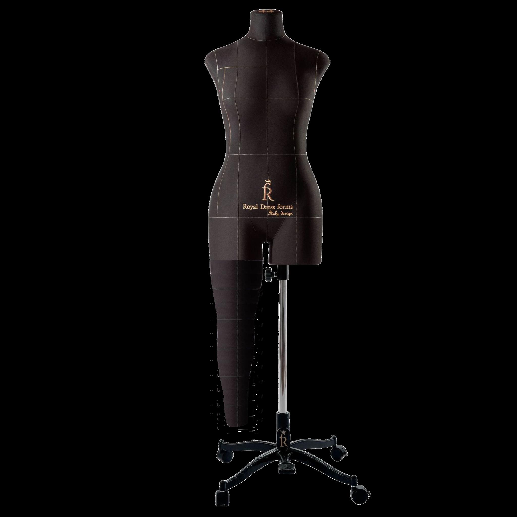 Нога для манекена Моника, размер 44 тип фигуры Песочные часы, Черная