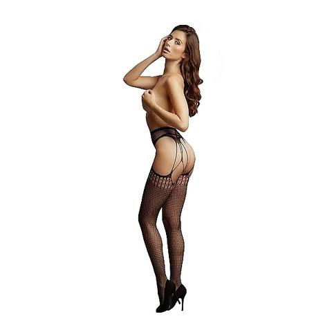 Чулки с поясом Shredded Suspender Pantyhose
