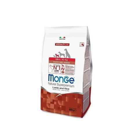 Monge Dog Speciality Mini корм для щенков мелких пород ягненок с рисом 2,5 кг