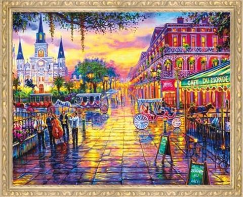 Алмазная Мозаика 50x65 Красочный город