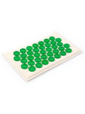 Тибетский аппликатор на мягкой подложке 12х22 см, зеленый