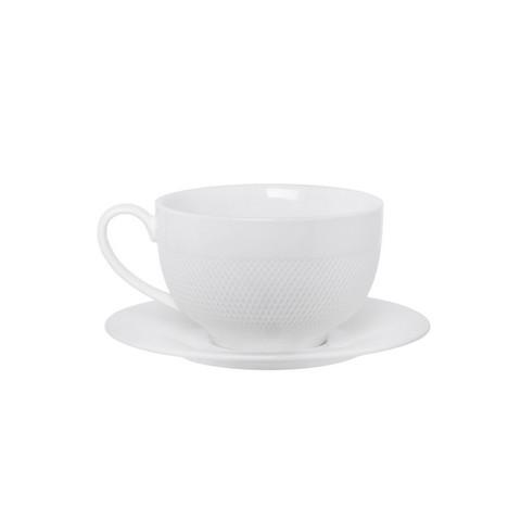 Кофейная пара Tudor England Royal Sutton фарфоровая белая 90 мл (артикул производителя TU1843)