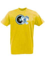 Футболка с принтом Знаки Зодиака, Близнецы (Гороскоп, horoscope) желтая 004