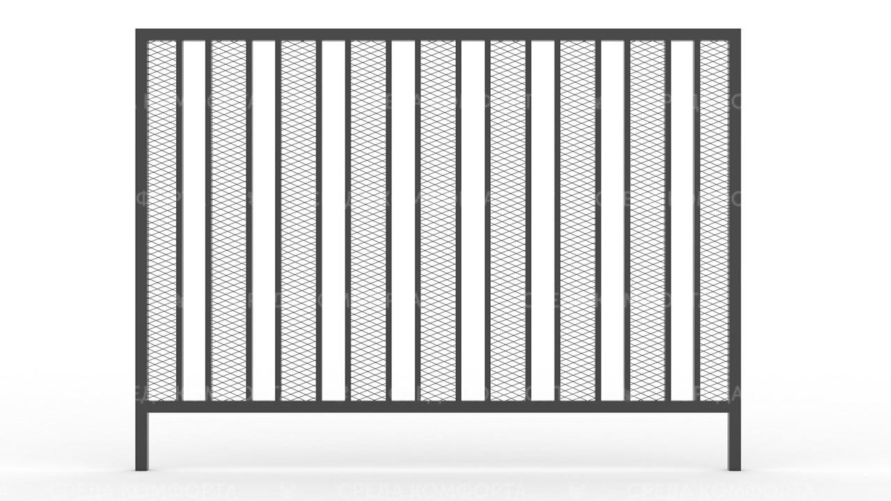 Забор из сетки рабицы ZBR0187