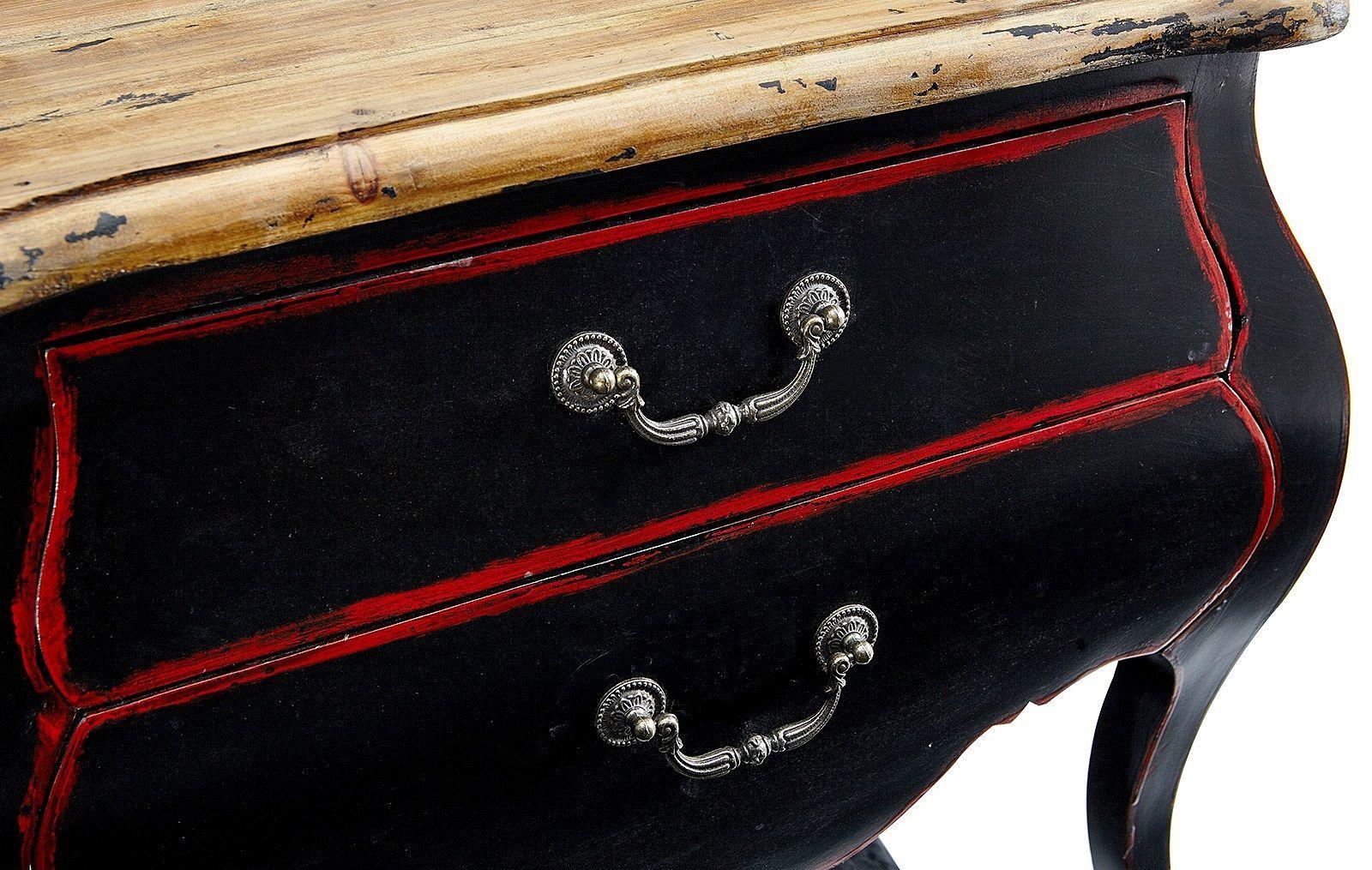 Тумбочка прикроватная ESF FL 4016 black/red (черный/красный)