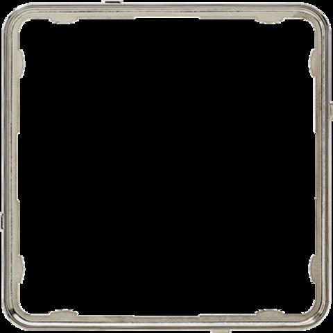 Внутренняя цветная рамка. Цвет Нержавеющая сталь. JUNG CD PLUS. CDP81ES