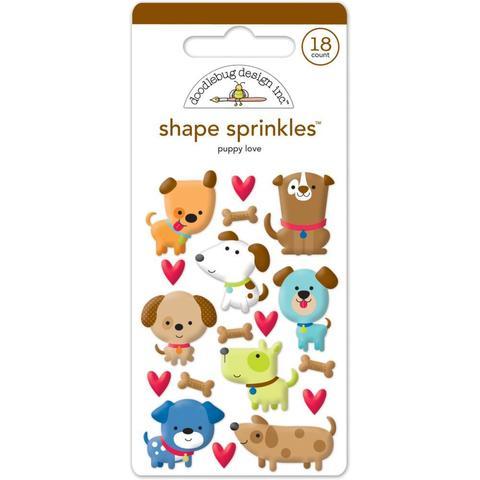Паф-стикеры  Собачки Doodlebug Sprinkles Adhesive Glossy Enamel Shapes