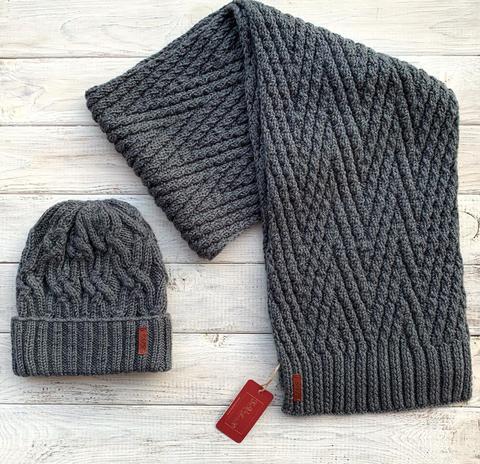 Комплект: шапка, шарф