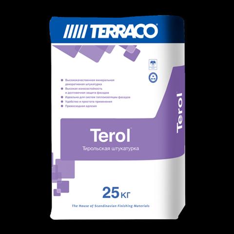 Terraco Terol Granule/Террако Терол Гранул декоративное покрытие на цементной основе с зернистой текстурой типа «шуба»