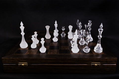 Шахматы White Crystal #5