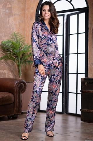 Женская шелковая пижама ETTRO  (70% нат. шелк)