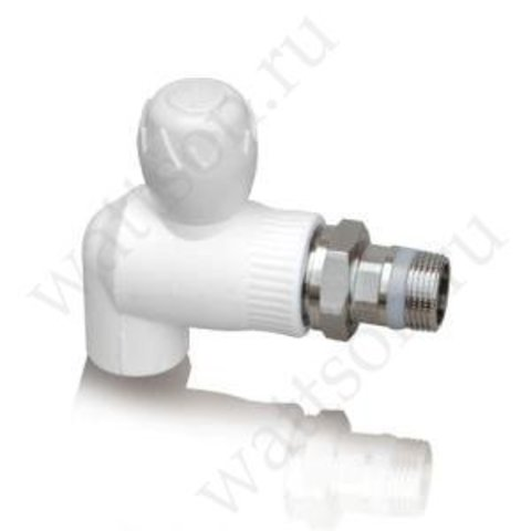 Угловой шаровый кран д/радиатора PPR (W) - 20 x 1/2
