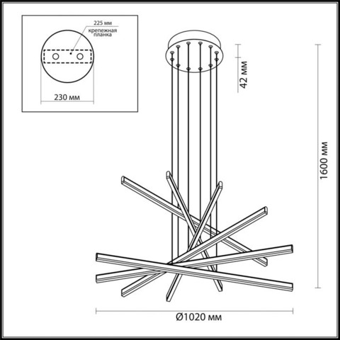 Подвесной светильник 3890/96L серии RUDY