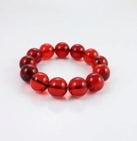 Браслет Красный янтарь