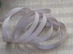 Лента репсовая серо-коричневая ширина от 6 до 22 мм