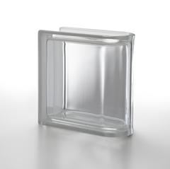 Торцевой стеклоблок бесцветный гладкий Vetroarredo Neutro TER Lineare T 19x19x8