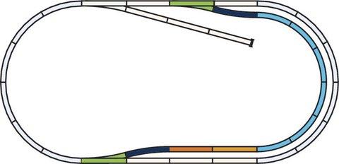 A-Gleis Рельсовый набор: Расширение - С
