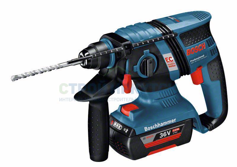 Перфораторы Аккумуляторный перфоратор с патроном SDS-plus Bosch GBH 36 V-EC Compact (0611903R02) 3022879785e792f43e57fc69d04135d8