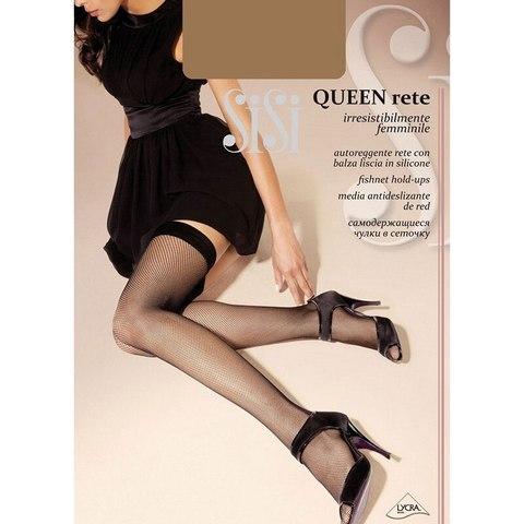 Чулки - Sisi queen rete - Nero 3/4-M/L