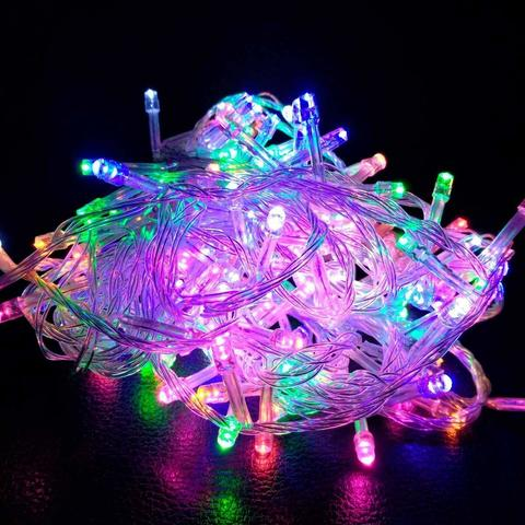 Штора-гірлянда 300 LED C 3 на 3 м. кольорова