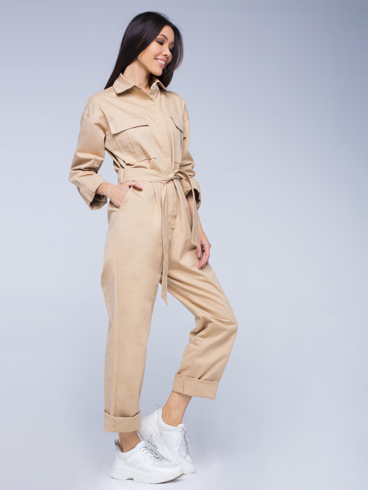 Комбинезон бежевый YOS от украинского бренда Your Own Style