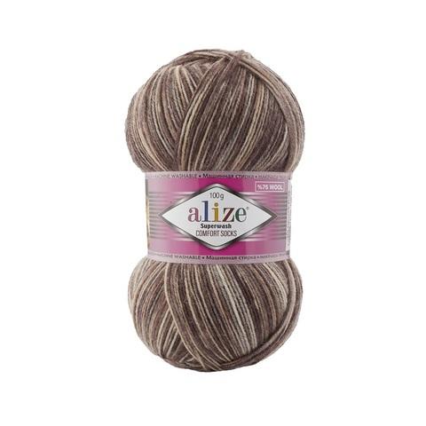 Пряжа Alize SuperWash Comfort Socks цвет 7678