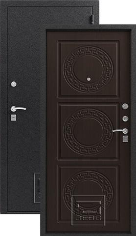 Дверь входная Зевс Z-4, 2 замка, 1,5 мм  металл, (серебро+венге шёлк)