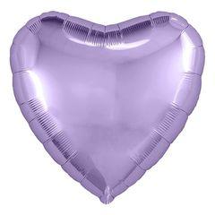 Шар сердце сиреневый