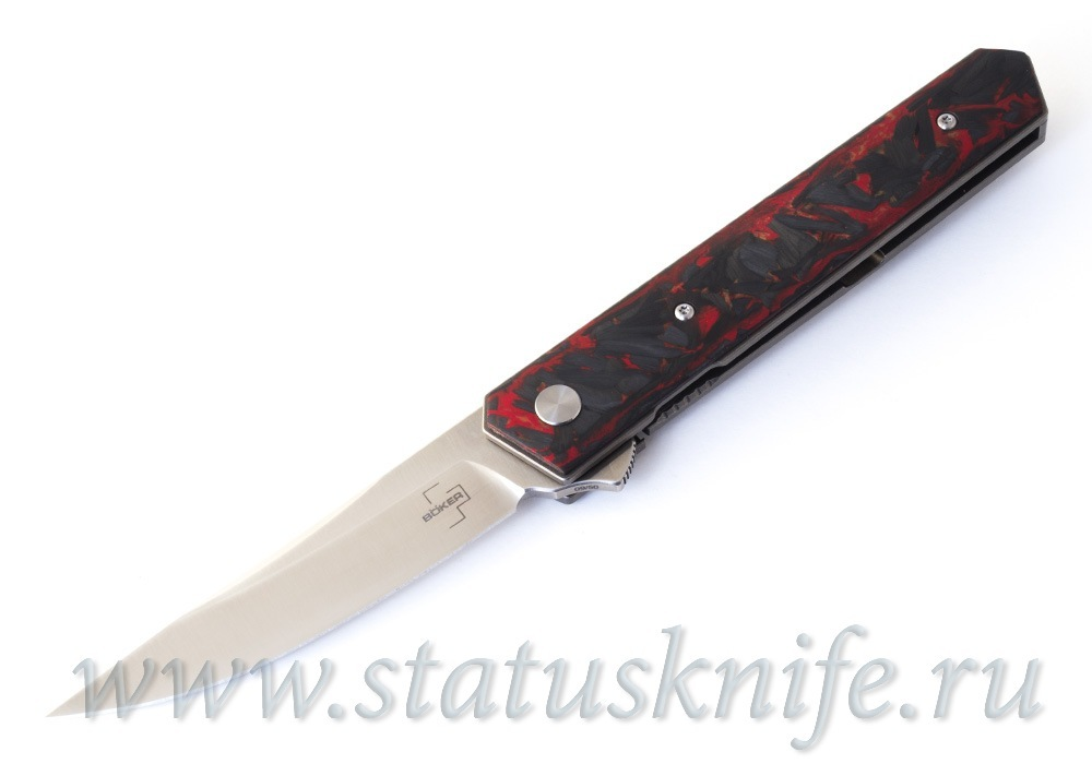 Нож Boker Plus 01BO224 Kwaiken Flipper Red Marble Carbon