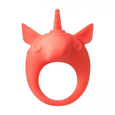 Оранжевое эрекционное кольцо Unicorn Alfie