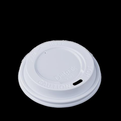 Крышка пластиковая 90мм (100шт) белая