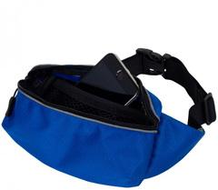 Сумка на пояс на молнии Powerup Bag 2020 Синяя большая