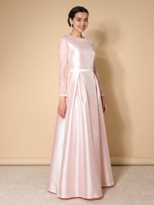 Нарядное платье Классика Блис (пудра)