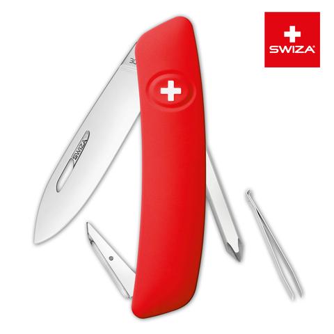 Уценка! Швейцарский нож SWIZA D02 Standard, 95 мм, 6 функций, красный