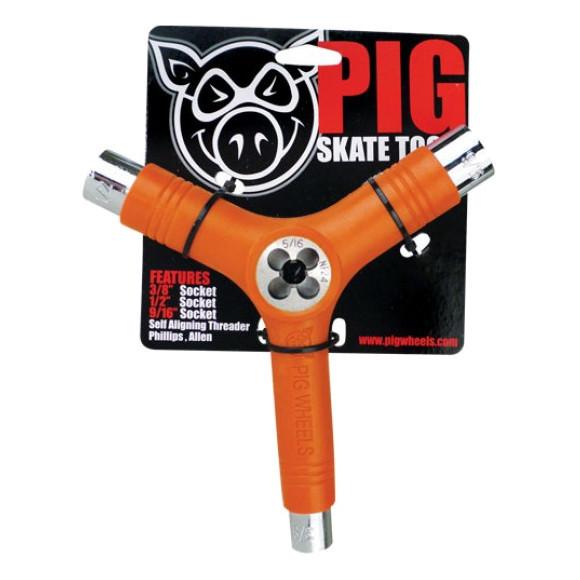 Ключ для скейта (скейт тул) PIG Skate Tool (Orange)