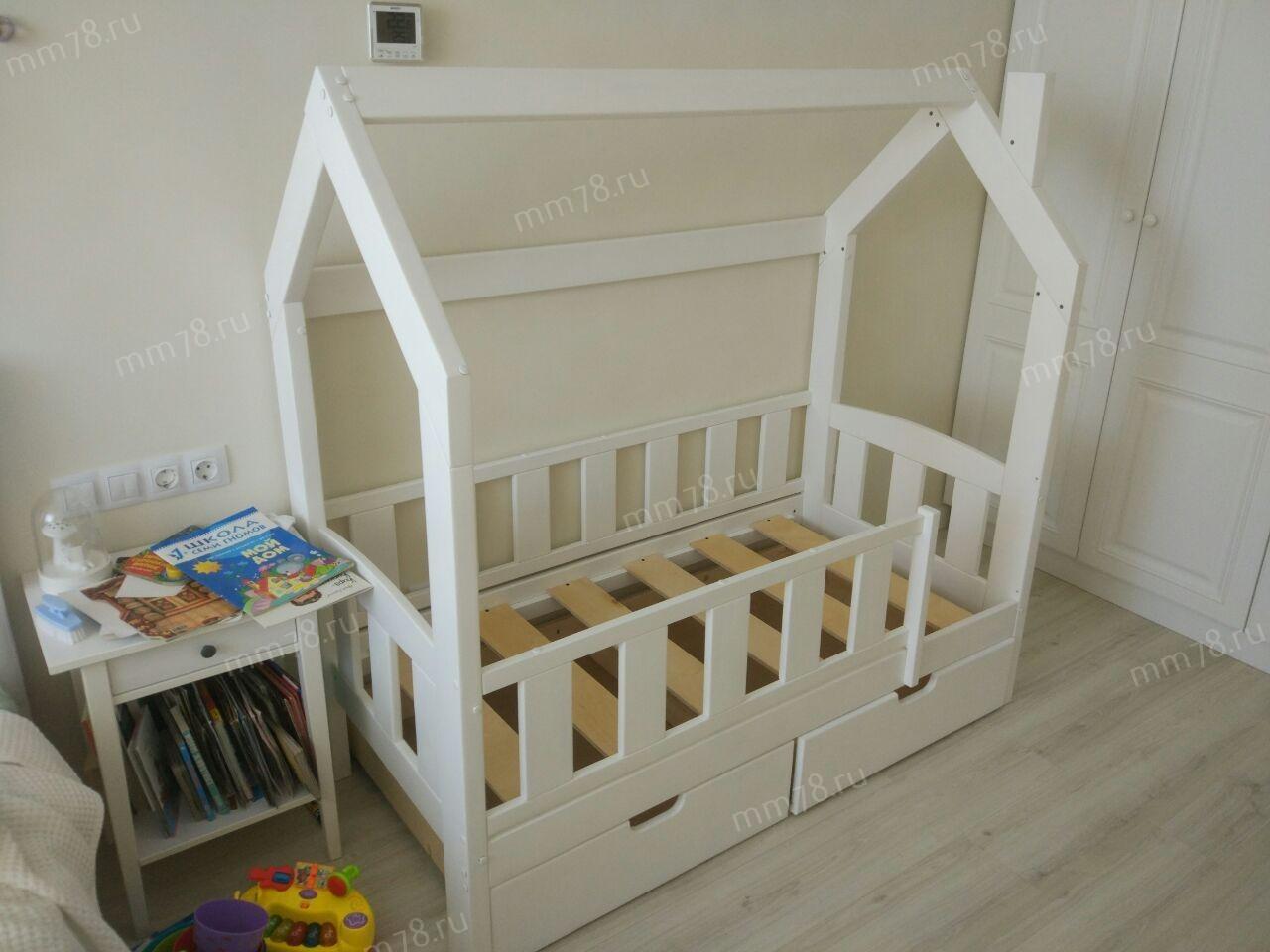 Детская кровать Домик Сказка без лестницы
