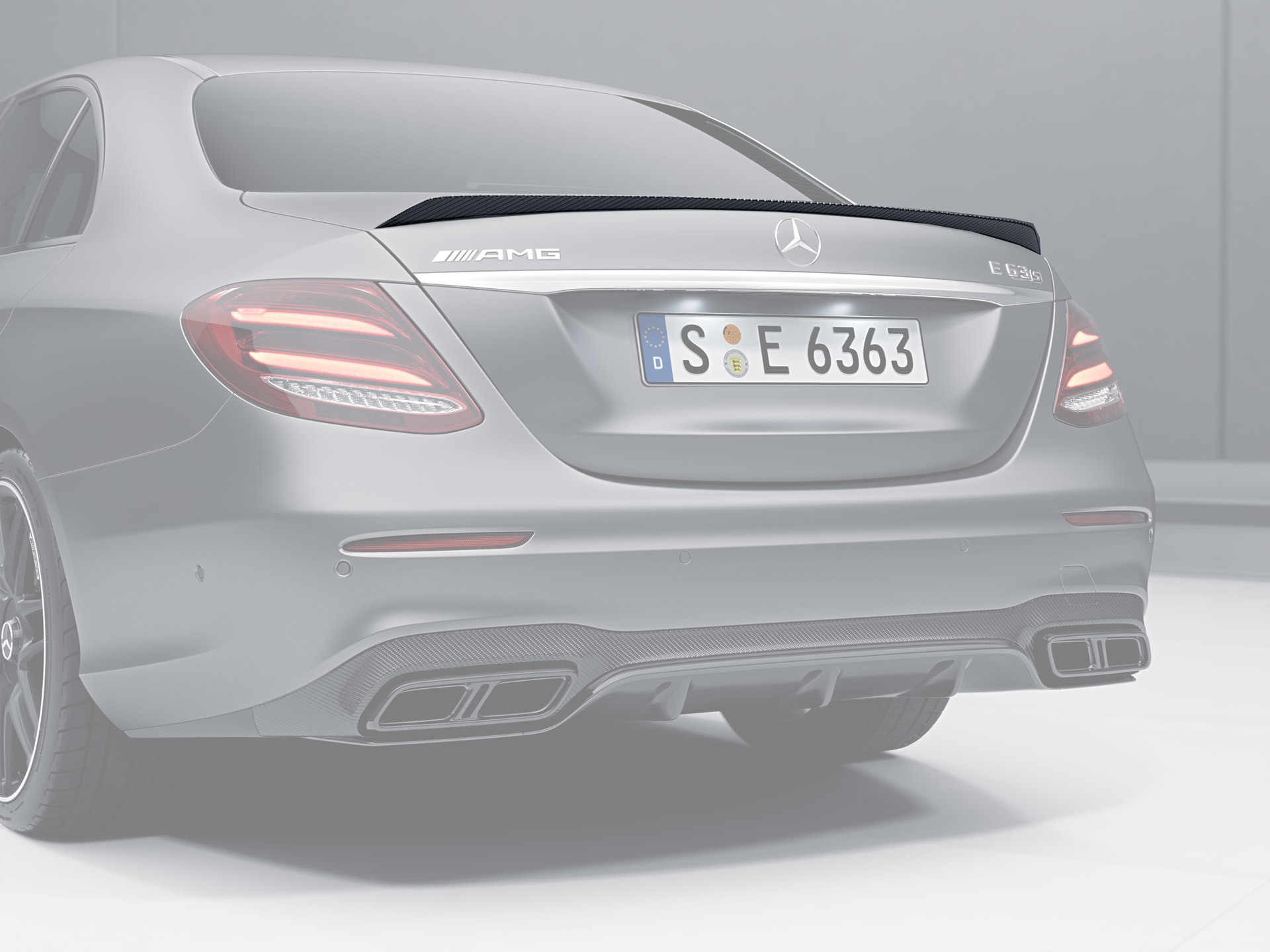 Карбоновый спойлер для Mercedes E43/53 AMG W213