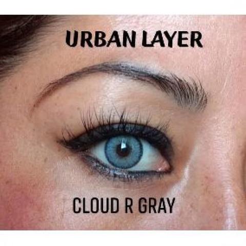 Серые цветные линзы Urban Layer (Урбан Лейер) Cloud R Gray
