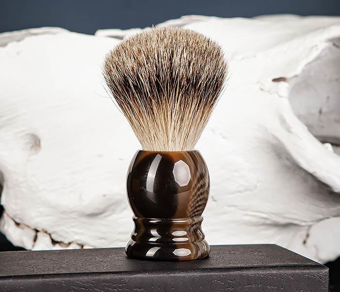 RAZ487 Помазок для бритья из барсучего волоса (Silvertip)