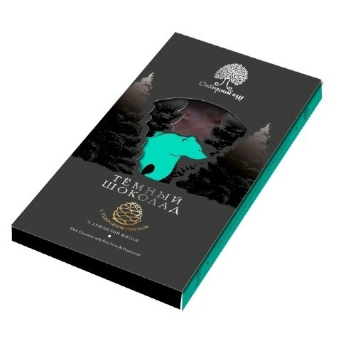 Шоколад темный с мятой и кедровым орехом / 100 г