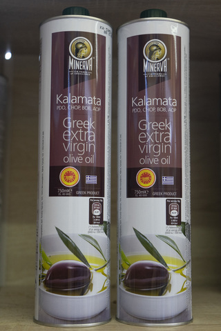 Масло оливковое Minerva Kalamata extra virgin PDO, CHOP, BOB, AOP 750 мл.Греция