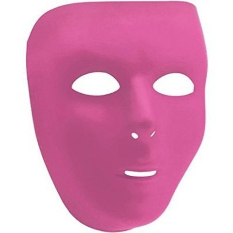 Маска пластиковая розовая