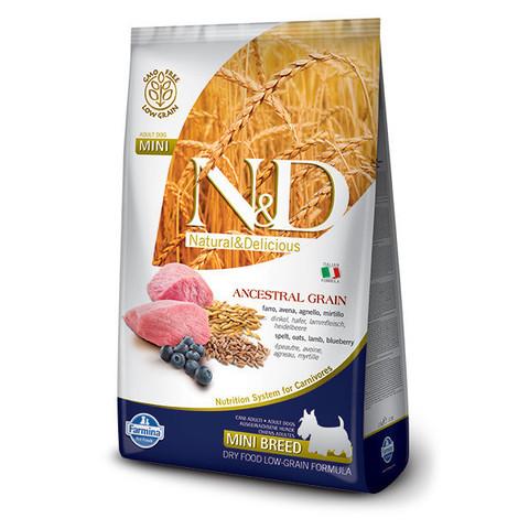 Корм Farmina для собак Farmina N&D Ancestral Grain ягненок с черникой (для мелких пород) 2,5 кг