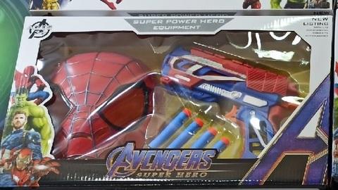 Набор Маска человека паука с бластером